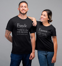 Funcle & Fauntie T Shirts SET Uncle Aunt Gifts Matching T-Shirts Christmas Idea