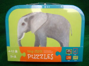 Elephant My First Puzzle 8 x 10 inch Die cut Puzzle for 3 year olds and up