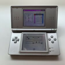Nintendo DS Lite Metallic Silver Console - Tested - Working - Scratched