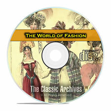 The World of Fashion Magazine, Victorian Dresses, Hats, Pics, PDF CD DVD E47