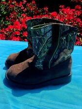 HEALTHTEX Just like Dad Mossy Oak Camo Cowboy Hiking Hunting Boots Sz 8 ❤️ ts17j