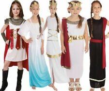 Kids Girls Greek Goddess Costume Roman Toga Outfit Book Week Child Fancy Dress
