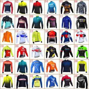 Men cycling jersey Cycling long sleeve shirt bike clothes bicycle sports uniform