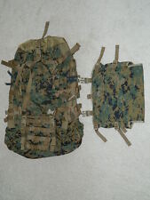 USMC Digital Marpat ILBE Main Backpack with Radio Pouch NEW