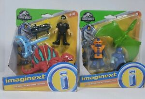 Imaginext Jurassic World Dr. Malcolm & Dimetrodon and Park Workers & Pterodactyl