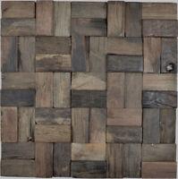 Echt Holz Mosaik Parkett Bootsplanken FSC Wand Küche Fliesenspiegel | WB160-25