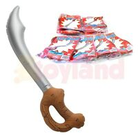 12 x INFLATABLE PIRATE SWORDS SCHOOL SUMMER FETE FAIR BOY TOY PARTY BAG FILLERS