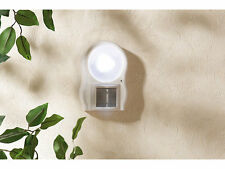 LAMPADA 9 LED A BATTERIE CON SENSORE DI MOVIMENTO PIR E CREPUSCOLARE LUCE MURO