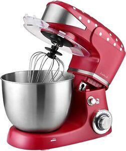 Kalorik Vintage 1000W Food Stand Mixer 5L Mixing Bowl 6 Speeds + Accessories