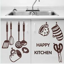 PVC Vinyl Removable Wall Decal Decor Kitchen Cooking Utensil Spatula Sticker