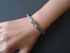 Antikes 800 Silber Armband mit Blume und klarem Stein 18 cm/10,6 g