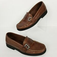 EASTLAND Mens Brown Leather Loafers Slip-on Shoes Size 11 D