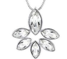Fashion Womens Clear Crystal Rhinestone Silver Chain Pendant Necklace