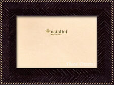 Natalini Hand Made in Italy Marquetry Black Herringbone 5x7 Picture Photo Frame