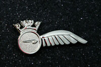 British Airways Crew HALF WING Pin Insignia silver Badge 50mm replica metal *UK*