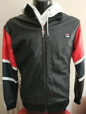 "Mens Fila faux leather jacket medium 40"" chest"