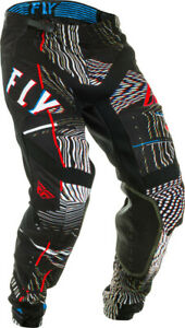 Fly Racing Lite Glitch Pants | Black/Red/Blue | Choose Size
