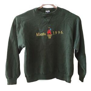 Unisex Champion Vintage 90s Atlanta Olympics 1996 Green Crewneck Sweatshirt Sz L