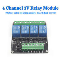 DC 3V 4 Channel Relay Module Optocoupler Isolation Control Board Dual Power