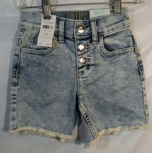 Justice Girls High Rise Denim Midi Shorts - New with Tags
