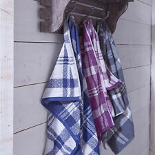 Checked Modern 100% Cotton Bath Towels