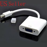 NEW Thunderbolt Mini DisplayPort to VGA Cable Adapter for Macbook Pro Air iMac