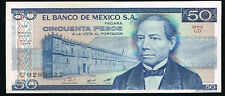 1981 El Banco De Mexico 50 Cincuenta Pesos Bank Note Circulated Serial U8289022