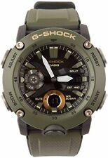 Casio Men's G-Shock Analog-Digital Carbon Core Guard Olive Green Watch GA2000-3A