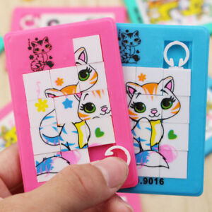Animal Number Puzzle Slide Game Jigsaw Toy Kids Educational Toy Random Colou_cd