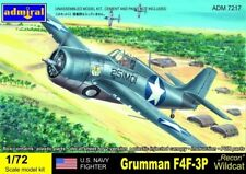 Admiral AZ Models 1/72 F4F3P Wildcat US Navy Recon Fighter Model Kit 7217