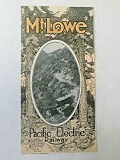1910's Mt. Lowe Pacific Electric Railway Incline in Los Angeles Travel Brochure