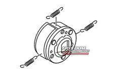 2009 - 2014 YAMAHA ZUMA YW 125 SECONDARY DRIVE CLUTCH REPLACEMENT ASSEMBLY NEW!
