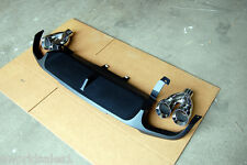STAINLESS DUAL EXHAUST TIPS 2.5 4.0 Ford Mustang GT500 Diffuser Panel 2013 2014