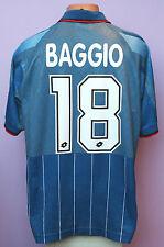 R.BAGGIO # 18 AC MILAN 1995/1996 FOURTH AWAY SHIRT + SHORTS LOTTO OPEL SIZE XL