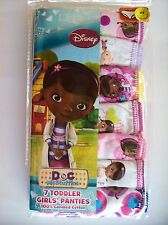 Doc McStuffins Underwear Underpants 7 Panty Pack Girls Sz 2T/3Toddler Disney NIP