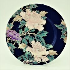 Black Floral *Cloisonne Peony* Accent Salad Plate(s) 7 1/2 in EUC Fitz & Floyd