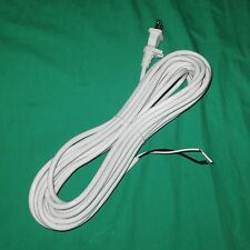 30' White Upright Vacuum Cleaner Power Cord Fit Simplicity Riccar 17/2 w/ Clip