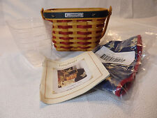 Longaberger Inaugural Basket Combo 2001 with protector & liner