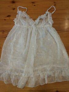 Victoria's Secret Nightgown Nightie White Lace Medium Top ONLY