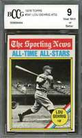 Lou Gehrig Card 1976 Topps #341 New York Yankees BGS BCCG 9
