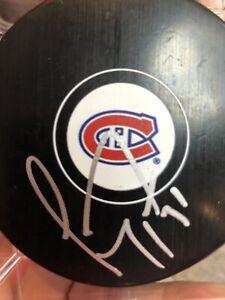 Montreal Canadiens Carey Price Autograph Hockey Puck
