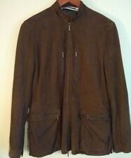 Women's Jil Sander Suede Leather Jacket, Coat, Size 36, Brown, Made In Italy