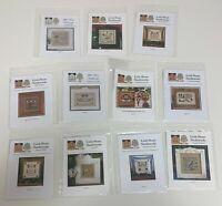 Lot Of 11 Little House Needleworks Cross Stitch Charts