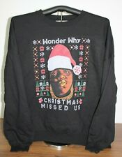 WONDER WHY CHRISTMAS MISSED US  Sweatshirt  5XL, Black
