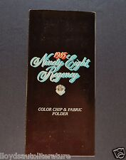 1985 Oldsmobile Paint Chip Colors Brochure Ninety Eight Regency 98 Original 85