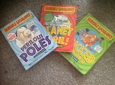 Horrible Geography handbooks. Wicked Waether, Planet in Peril & Perilous Poles