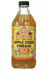 Bragg Organic Apple Cider Vinegar USDA With The Mother Raw Unfiltered 16 Oz