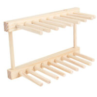 Dish Drainer Wooden-Dinner Plates Cup Drying Rack Stand Holder Kitchen Organizer