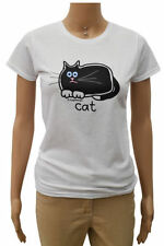 Waist Length Animal Print Cats Graphic T-Shirts for Women