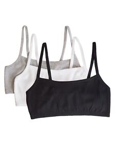 Fruit of the Loom Women's Strappy Sports Bra, Style 9036, 3-Pack Sz. 34